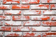 Slut upp av gammal bakgrund för tegelstenvägg Antikviteten gör envist motstånd yttersida royaltyfri fotografi