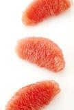Slut upp av grapefruktträmassa Arkivbilder