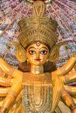 Slut upp av gudinnan Durga Royaltyfria Bilder