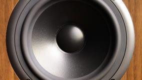 Slut upp av högtalaren i arbete lager videofilmer