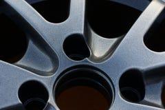 Slut upp av hjulet för kantbillegering Arkivfoton