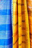 Slut upp av indiska Sarees Fotografering för Bildbyråer