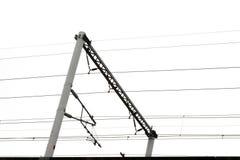 Slut upp av järnväg konstruktion Royaltyfri Bild