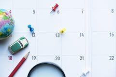 Slut upp av kalendern på tabellen Fotografering för Bildbyråer