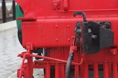 Slut upp av kroken för ångalokomotiv Royaltyfri Foto