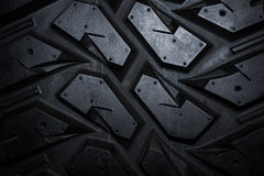Slut upp av lastbilgummihjultextur Royaltyfri Bild