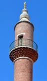 Slut upp av moskéminaret Arkivbilder