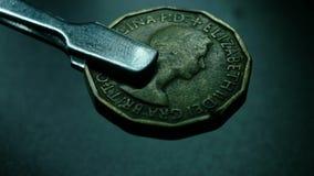 Slut upp av mycket gamla mynt lager videofilmer