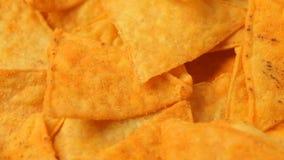 Slut upp av nachochiper lager videofilmer