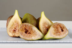 Slut upp av nya fikonträd mogna figs Royaltyfria Foton