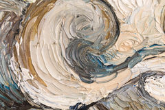 Slut upp av olje- målning Arkivbilder
