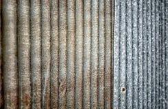 Slut upp av rostzink bruk för bakgrund och textur Royaltyfri Bild