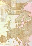 Slut upp av sedeln för euro 50 Arkivbild