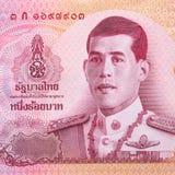 Slut upp av sedeln för thailändsk baht 100 Arkivfoto