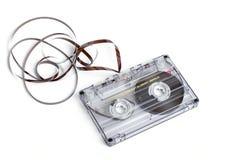 Slut upp av tappningljudbandkassetten Royaltyfri Fotografi