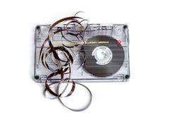 Slut upp av tappningljudbandkassetten Fotografering för Bildbyråer