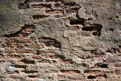 Slut upp av tegelstenväggen Arkivfoto