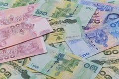 Slut upp av thai pengar Arkivfoton
