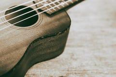 Slut upp av ukulelet royaltyfri fotografi