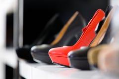 Slut upp av uppsättningen av skor Royaltyfria Bilder