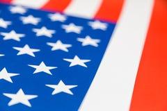Slut upp av USA flaggan Arkivbilder