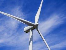 Slut upp av vindturbinen Royaltyfri Bild