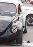 Slut upp av Volkswagen Beetle den Retro tappningbilen.  Royaltyfri Foto