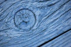 Slut upp av wood korn målade blått Royaltyfria Bilder