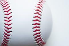 Slut upp baseball på vit bakgrund Arkivfoton