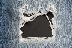 Slut upp blå jeanram arkivbilder