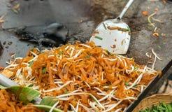 Slut upp block-thailändsk meny Arkivfoto
