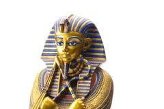 Slut upp den gamla egyptiska faraostatyn Arkivbilder