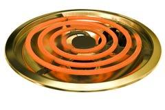 Slut upp den glödheta ugngasbrännaren Arkivfoton