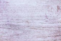Slut upp den lantliga wood tabellen med korntextur i tappningstil Yttersida av den gamla träplankan i makrobegrepp med den tomma  arkivfoto