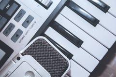 Slut upp den MIDI kontrollanten Royaltyfri Bild