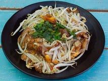 Slut upp den thailändska frasiga musslan och Beansprout royaltyfri bild