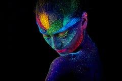Slut upp den UV abstrakta st?enden arkivfoto