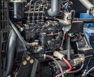 Slut upp diesel- generatorstation Arkivbilder