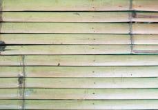 Slut upp för stakettextur för bambu wood bakgrund Arkivfoton