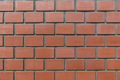 Slut upp fotoet av väggen för röd tegelsten detailed bakgrund fotografering för bildbyråer