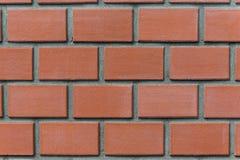 Slut upp fotoet av väggen för röd tegelsten detailed bakgrund royaltyfri foto