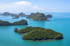 Slut upp från bästa sikt av Ang Thong National Marine Park Arkivbild