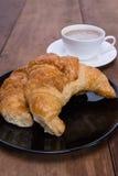 Slut upp gifflet med kaffe Fotografering för Bildbyråer