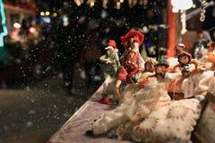 Slut upp julställning Arkivbilder