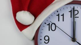Slut upp klockaframsida, nytt års tema stock video