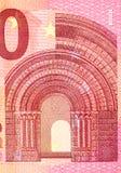 Slut upp makrodetaljen av europengarsedlar Royaltyfri Foto