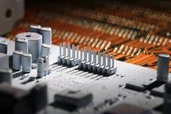 Slut upp microelectronicschiper fotografering för bildbyråer
