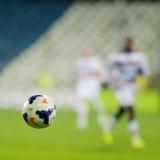 Slut upp officiell boll av Liga I fotboll Arkivfoto