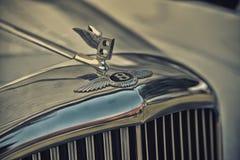 Slut upp på den Bentley allsången på den Motorclassic showen Arkivbild