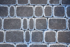 Slut upp på Frosty Road Salts Pollution Background royaltyfri foto